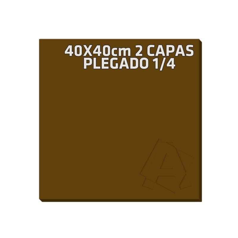 Servilleta de Papel 40x40 2 Capas Marrón Chocolate