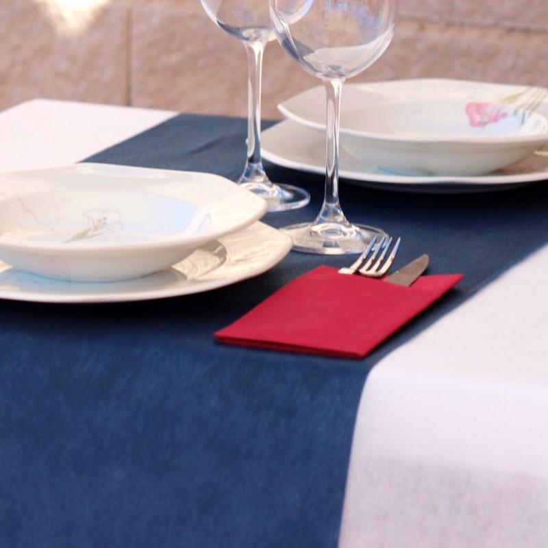Manteles de Polipropileno Azul Marino 50grs/m2 medida 100x100cm