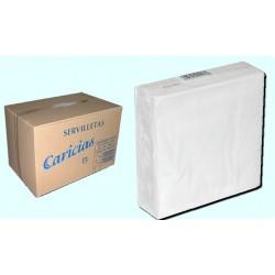 Caja de 2500 Servilletas Blancas 33x33cm 2h Caricias
