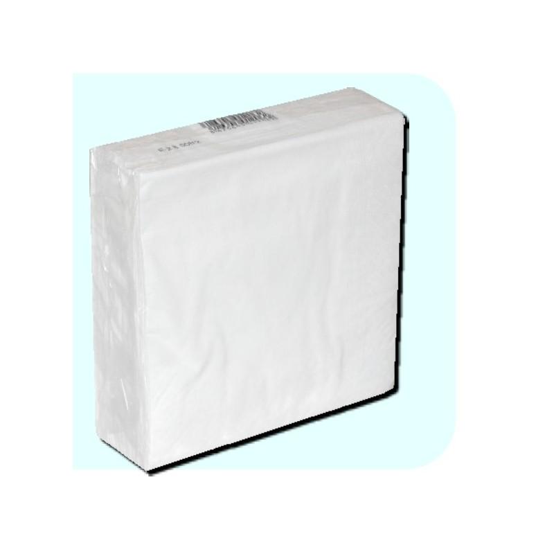 detalle paquete de Servilletas de papel Blancas 33x33cm 2h Caricias