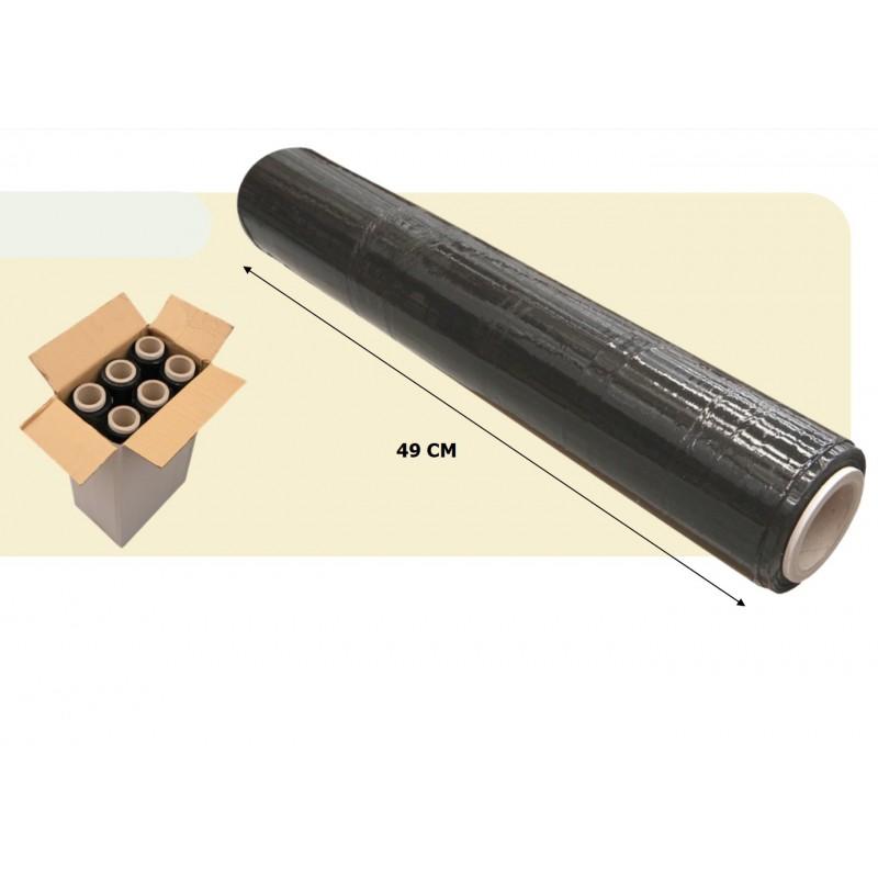6 bobinas Film de Paletizar color Negro 2kg 50cm 23 micras