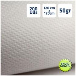 200 Manteles desechables Blancos 120x120cm