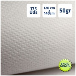 175 Manteles desechables 120x140cm Blanco