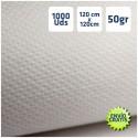 1.000 Manteles desechables de TNT 50grs/m2 120x120cm Blancos
