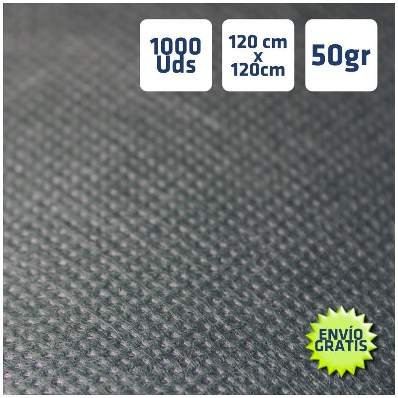 1.000 Manteles desechables de TNT 50grs/m2 120x120cm Negros