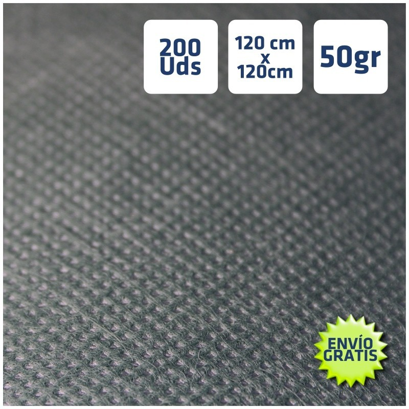 200 Manteles desechables Negros 120x120cm Envío gratis