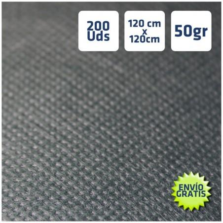 200 Manteles desechables Negros 120x120cm