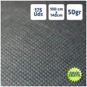 175 Manteles desechables 100x140cm Negro Envío Gratis