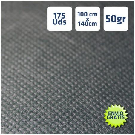 175 Manteles desechables 100x140cm Negro