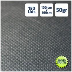 150 Manteles desechables 100x160cm Negro