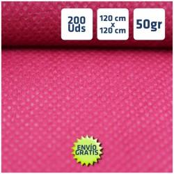 200 Manteles desechables Burdeos 120x120cm