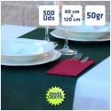 500 CAMINOS DE MESA VERDE OSCURO 40x120cm y envío 24h gratis