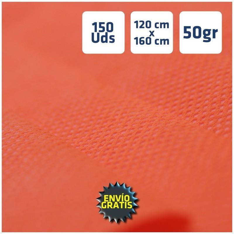 150 Manteles desechables de Polipropileno Naranja 120x160cm envío 24h gratis