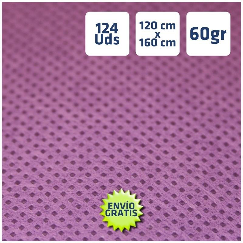 124 Manteles violeta tnt 120x160cm envío 24h gratis