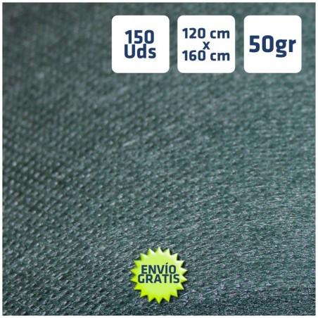 150 Manteles tnt Verde oscuro 120x160cm