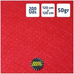 200 Manteles desechables Rojo 120x120cm