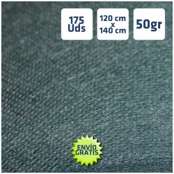 175 Manteles desechables 120x140cm Verde Oscuro, envío gratis Península