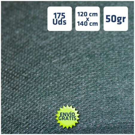 175 Manteles desechables 120x140cm Verde Oscuro