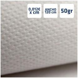Manteles Blancos de Polipropileno 50grs/m2 por centímetros online 120cm de Ancho