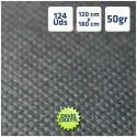 124 MANTELES Negros de polipropileno 120x180cm ENVÍO GRATIS