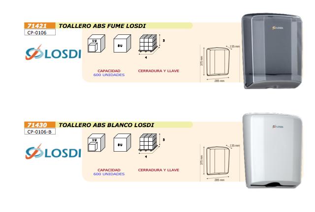 Toalleros ABS para toallas de papel