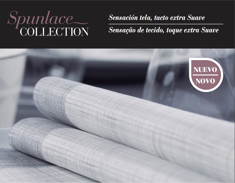 Nueva servilleta Spunlace Collection gris grafito
